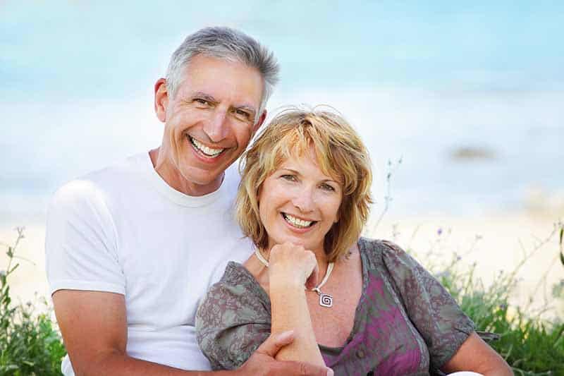 Mature couple smiling