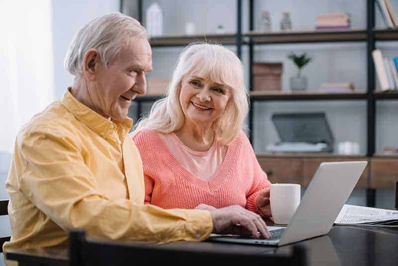 Old Couple with Computer